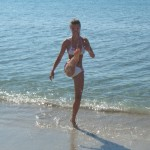 Mae-geri na plazi u Laganasu