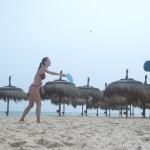 Teniski trening na plazi